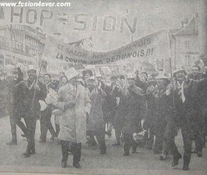 Supporters valaisans sur le chemin du Wankdorf (1965) : aux Genevois la modernité, aux Valaisans les lots de consolations ! (www.fcsion4ever.com)